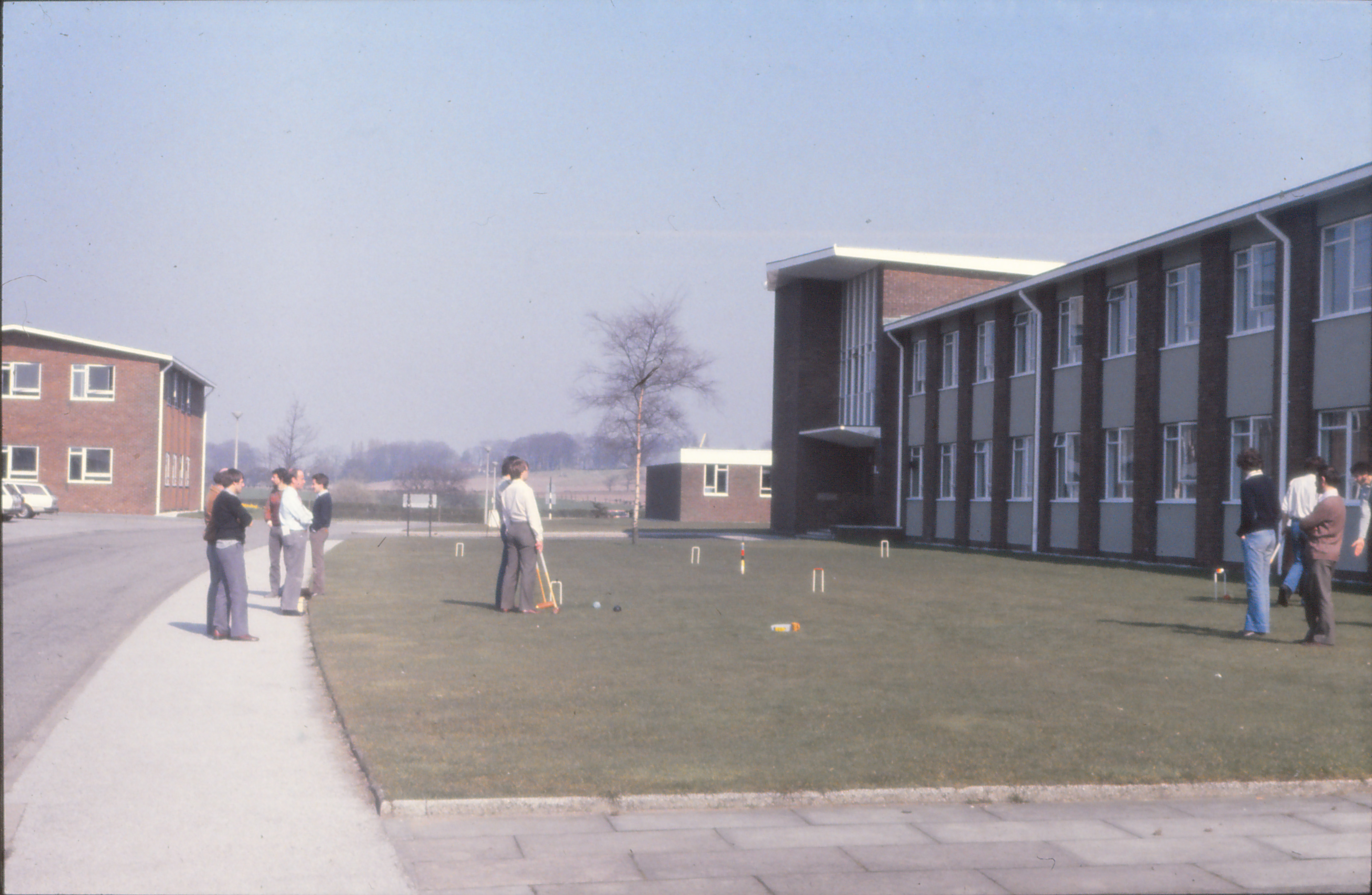 sc0002.jpg - Croquet on the lawn.  There was time to relax in those days